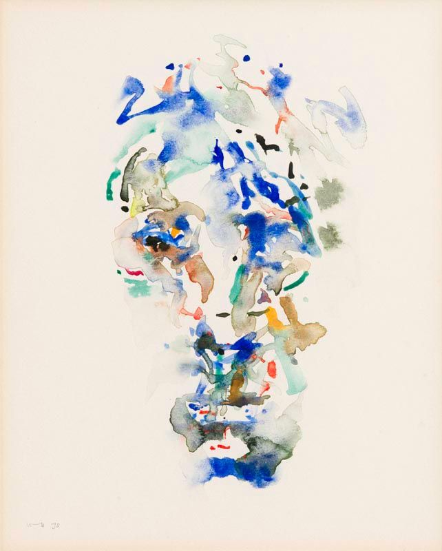 Louis Le Brocquy, Study of William Butler Yeats (1975) (W165) at Morgan O'Driscoll Art Auctions