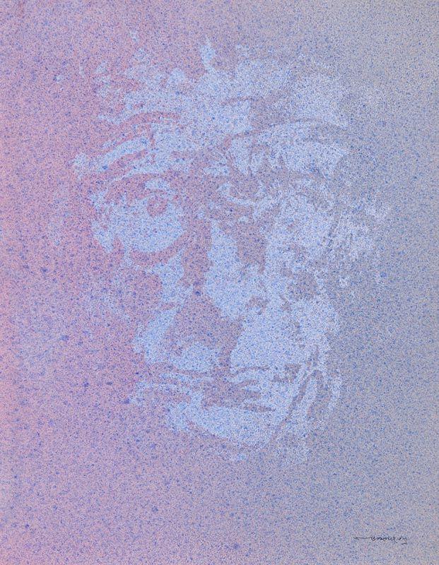 Louis Le Brocquy, Image of Samuel Beckett (1998) at Morgan O'Driscoll Art Auctions