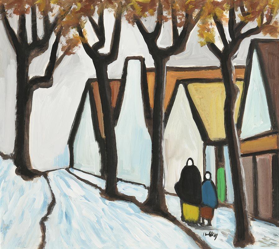 Markey Robinson, Shawlies and Winter Village at Morgan O'Driscoll Art Auctions