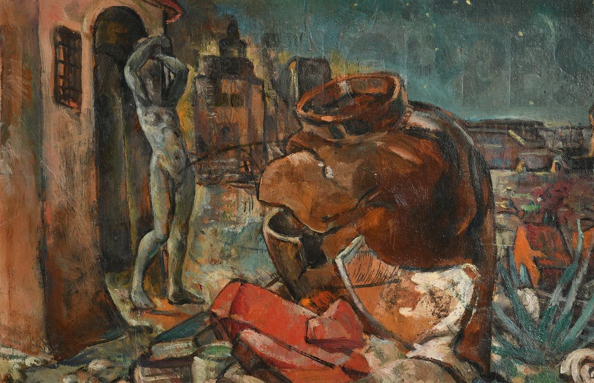 Mary Swanzy, Study for Sleep Walker (c.1938) at Morgan O'Driscoll Art Auctions