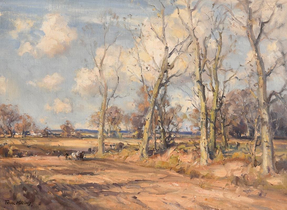 Frank McKelvey, Ploughing the Fields at Morgan O'Driscoll Art Auctions