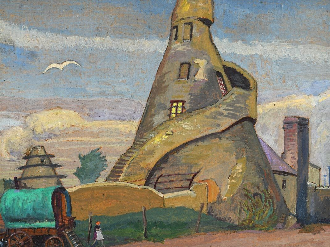Harry Kernoff, Bottle Tower, Rathfarnham (1940) at Morgan O'Driscoll Art Auctions