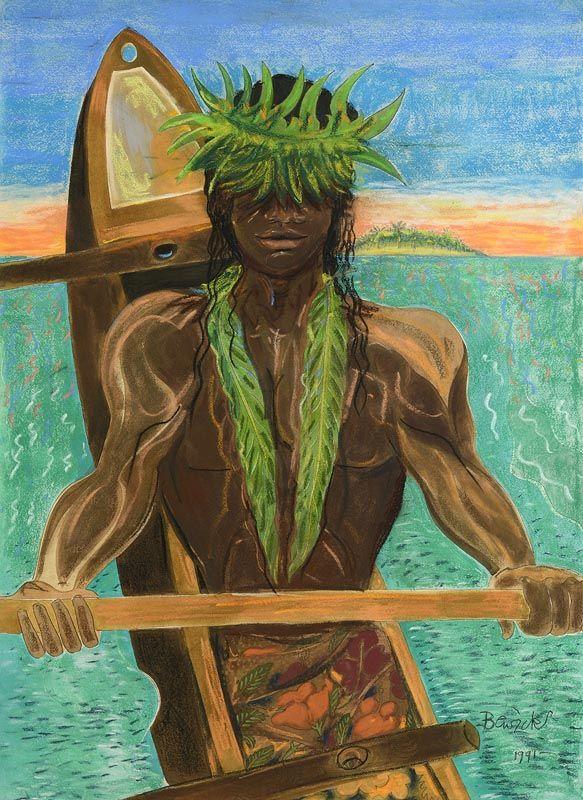 Pauline Bewick, South Sea's Boat Man (1991) at Morgan O'Driscoll Art Auctions