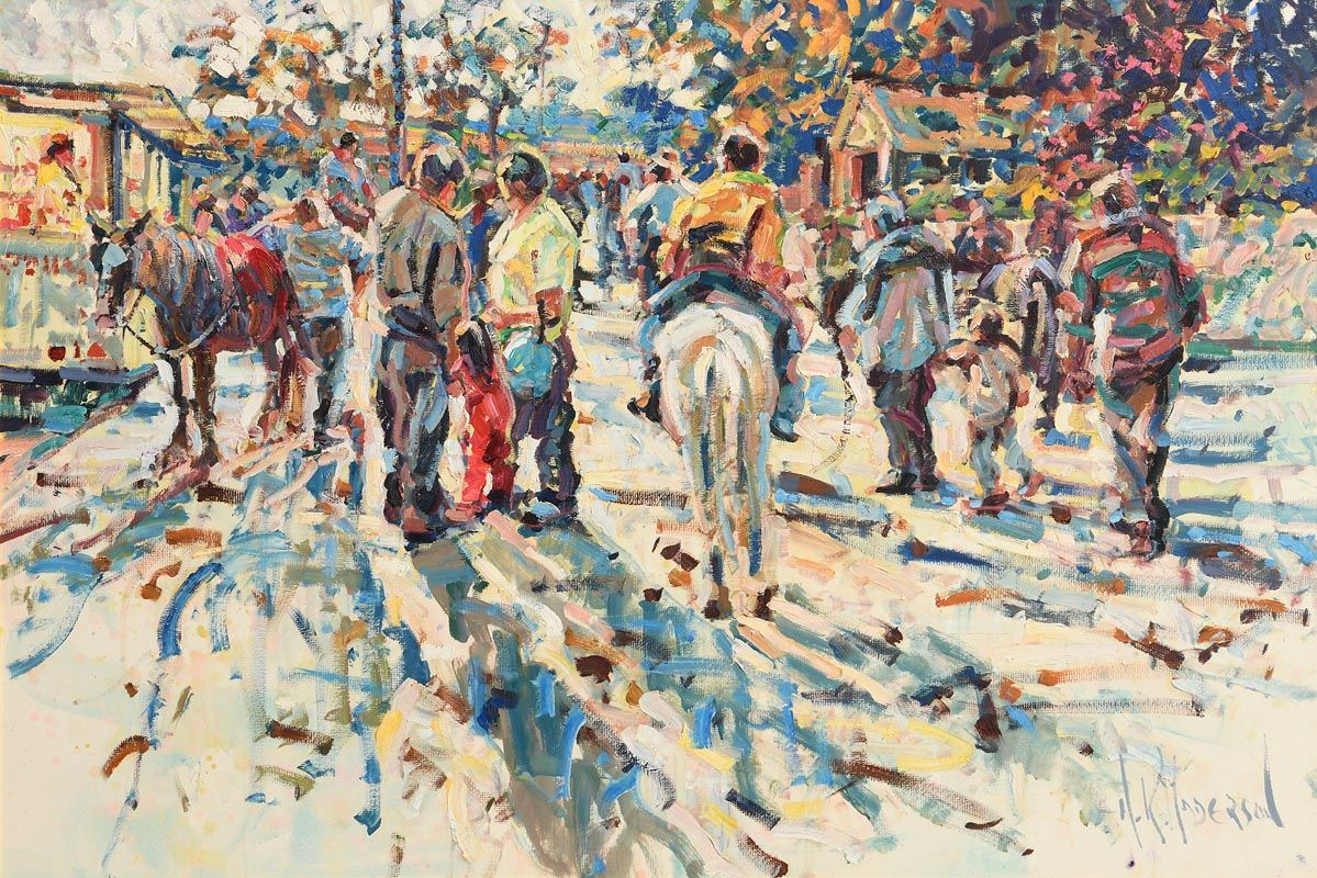 Arthur K. Maderson, Simply Pointing Out at Tallow Horse Fair at Morgan O'Driscoll Art Auctions