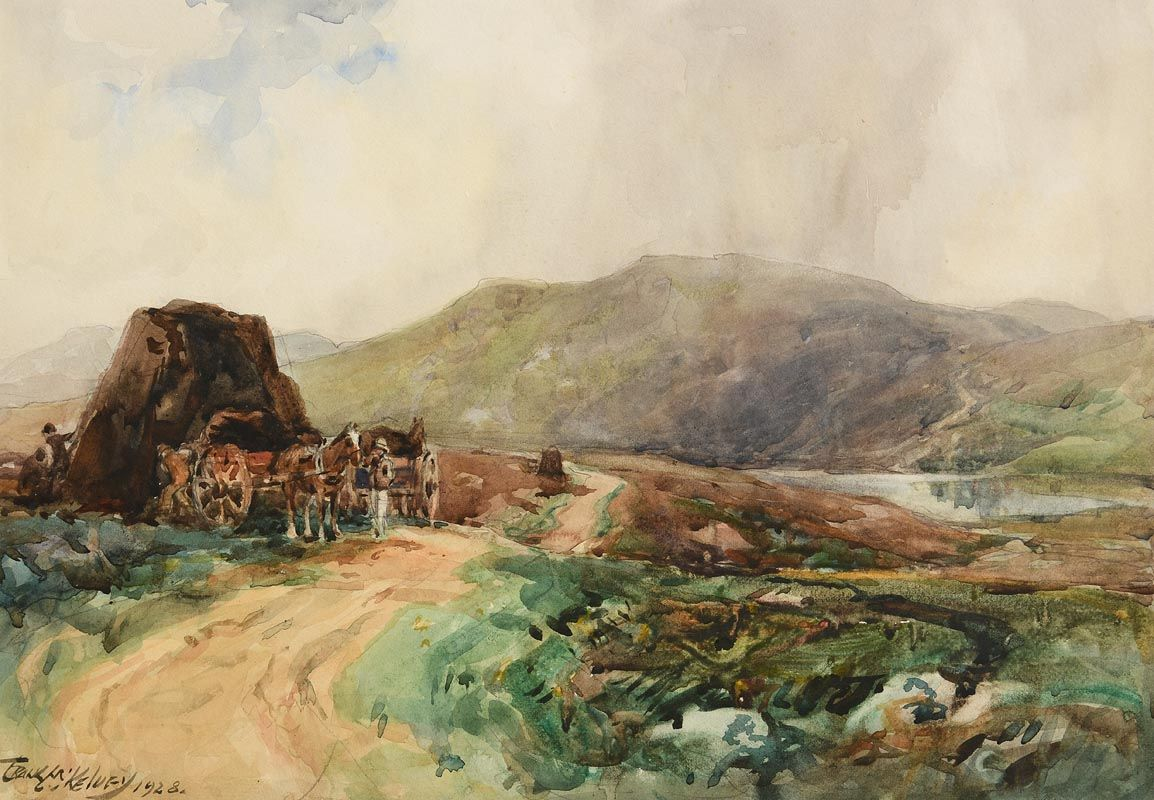 Frank McKelvey, Gathering Turf (1928) at Morgan O'Driscoll Art Auctions