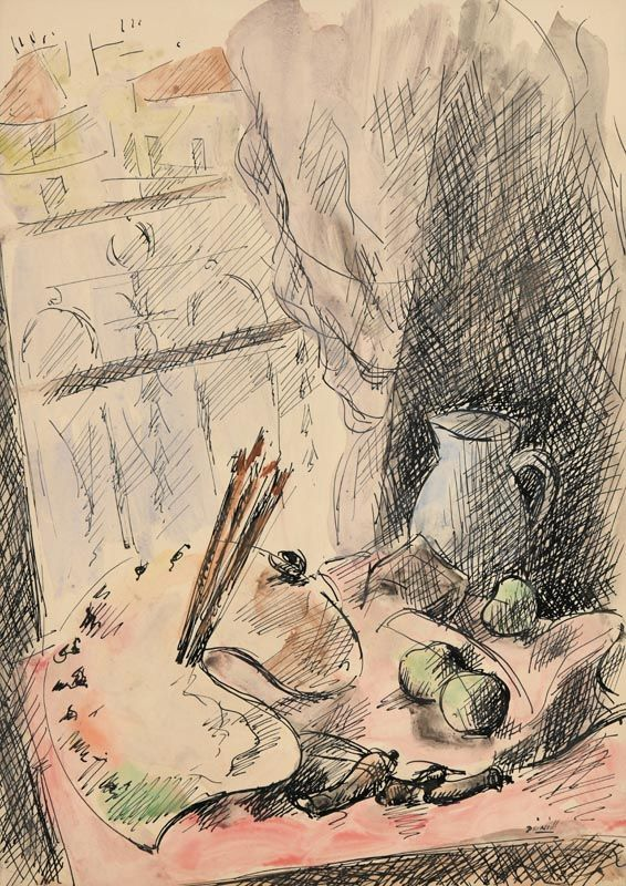 Daniel O'Neill, The Artist's Pallette at Morgan O'Driscoll Art Auctions
