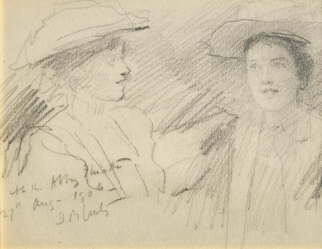 John Butler Yeats, At the Abbey Theatre (1906) at Morgan O'Driscoll Art Auctions