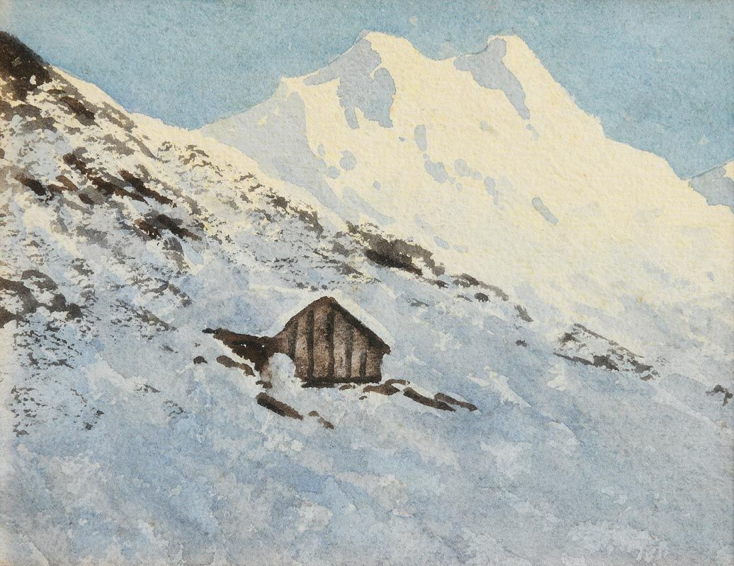 Percy French, Alpine Scene at Morgan O'Driscoll Art Auctions