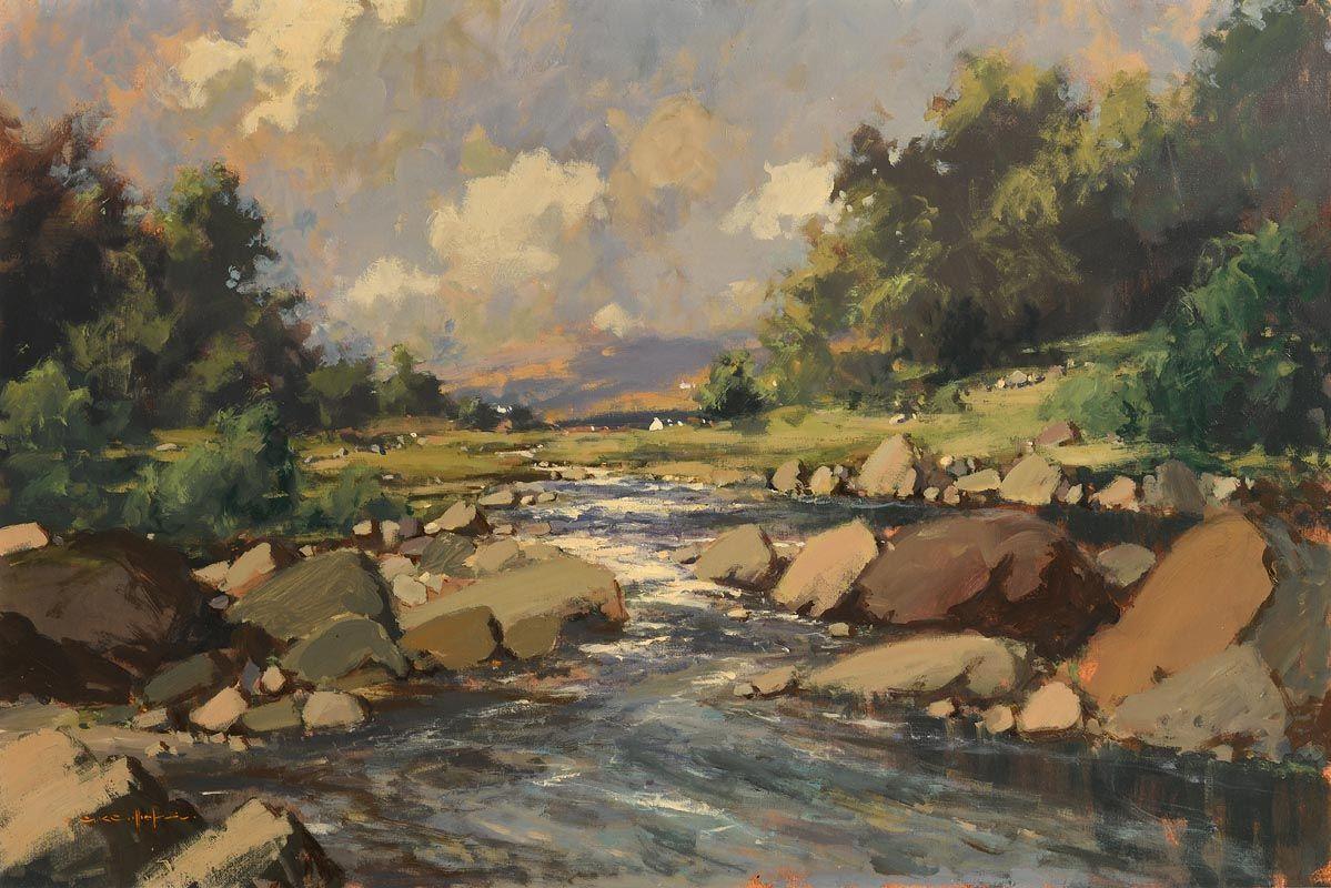 George K. Gillespie, Cashla River, Connemara at Morgan O'Driscoll Art Auctions