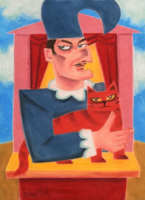 Graham Knuttel, Mr Punch and Cat at Morgan O'Driscoll Art Auctions