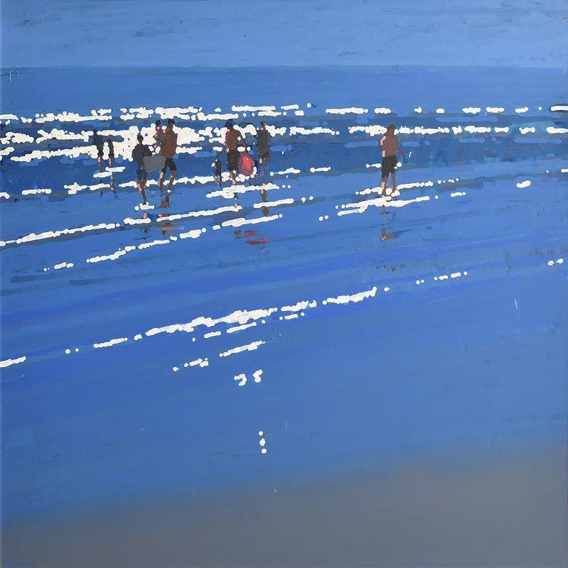 John Morris, Walking in Shallow Water at Morgan O'Driscoll Art Auctions