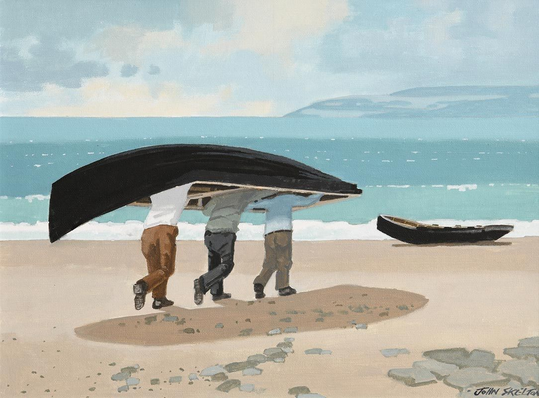 John Skelton, The Last Wave, Inisheer Co. Galway at Morgan O'Driscoll Art Auctions