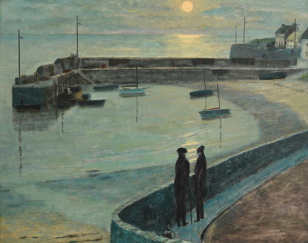 Ciaran Clear, Harbour in Moonlight at Morgan O'Driscoll Art Auctions