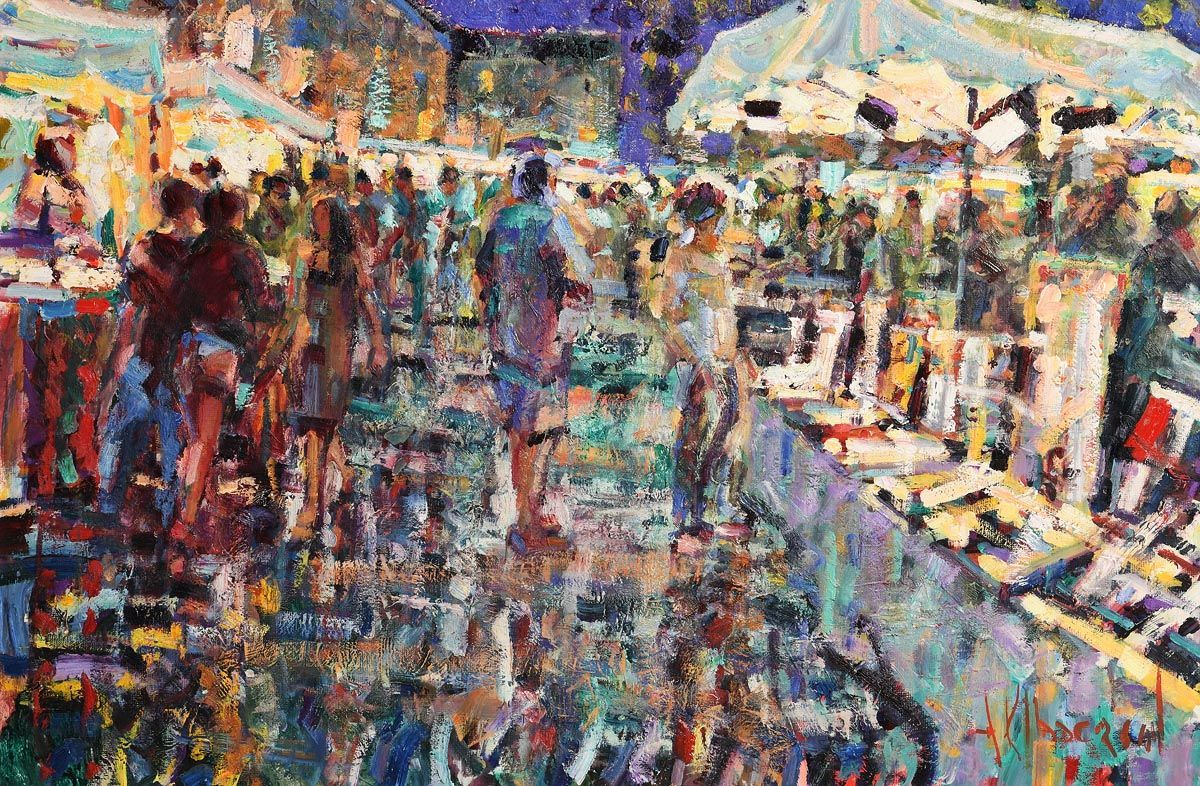Arthur K. Maderson, French Market at Morgan O'Driscoll Art Auctions