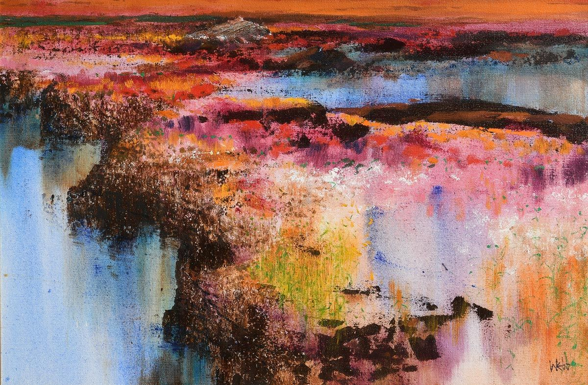 Kenneth Webb, Red Bog in Winter at Morgan O'Driscoll Art Auctions