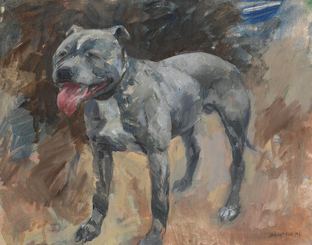 Basil Blackshaw, Bulldog at Morgan O'Driscoll Art Auctions