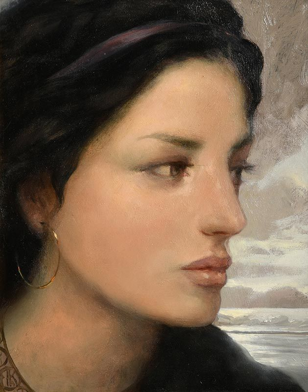 Ken Hamilton, Girl with Gold Earring at Morgan O'Driscoll Art Auctions