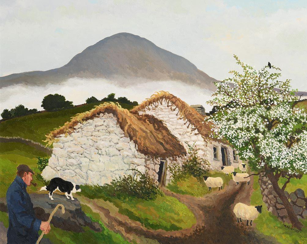James MacIntyre, Misty Morning Slemish at Morgan O'Driscoll Art Auctions