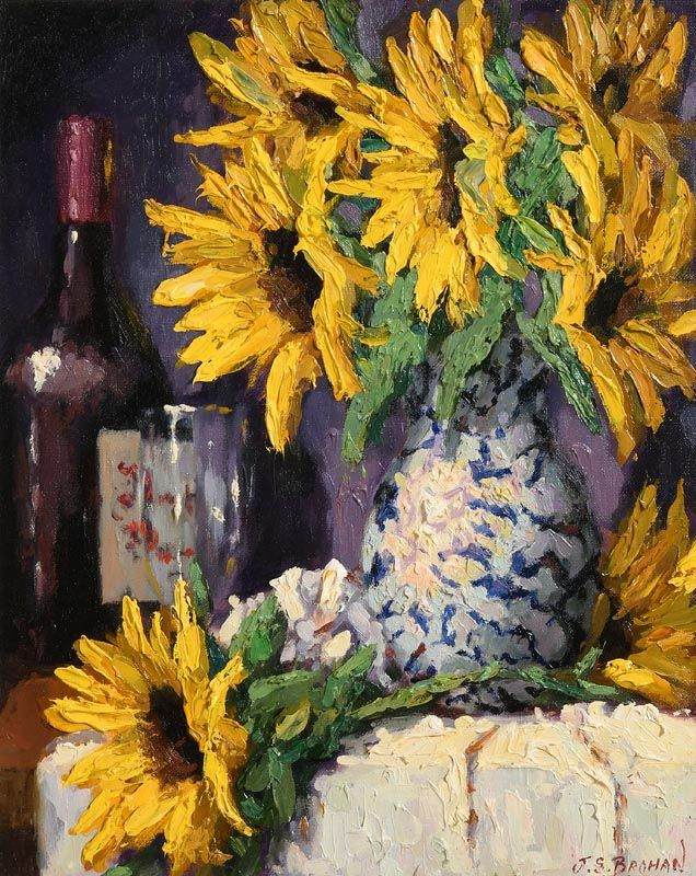 James S. Brohan, Sunflowers at Morgan O'Driscoll Art Auctions
