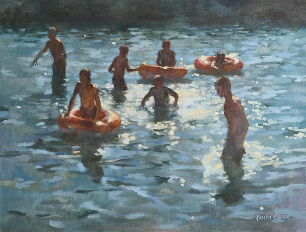 Laura Cronin, August Bank Holiday, Sandycove at Morgan O'Driscoll Art Auctions