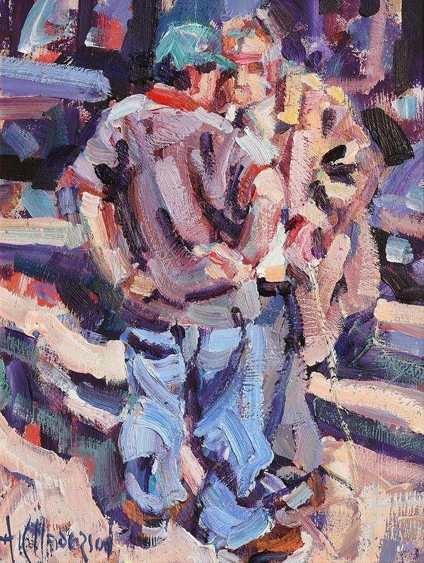 Arthur K. Maderson, Killing Time (Tallow Horse Fair) at Morgan O'Driscoll Art Auctions