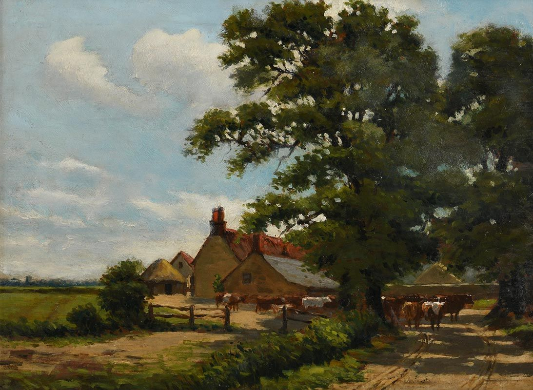 Dermod O'Brien, The Farmstead at Morgan O'Driscoll Art Auctions